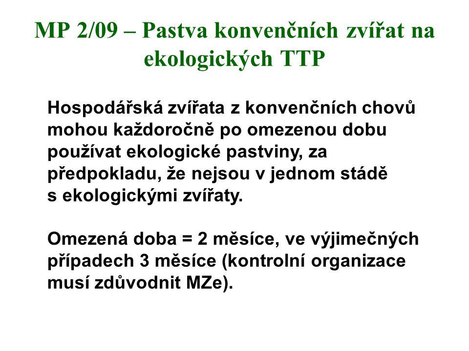 MP 2/09 – Pastva konvenčních zvířat na ekologických TTP