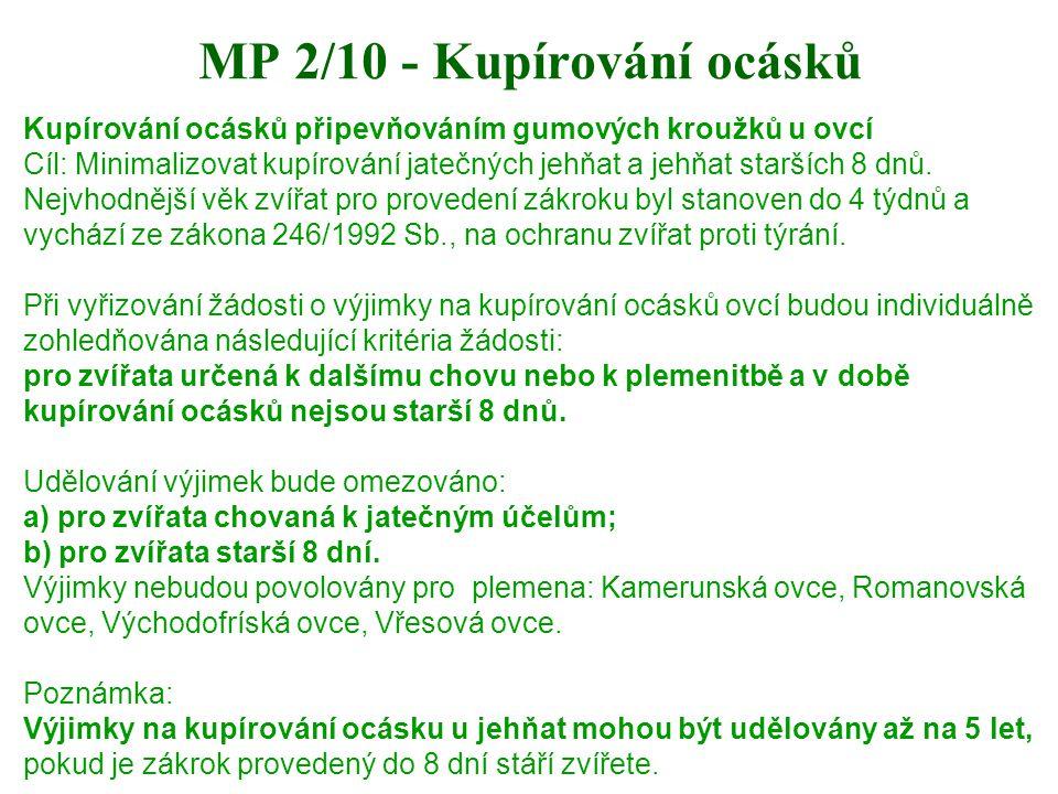 MP 2/10 - Kupírování ocásků