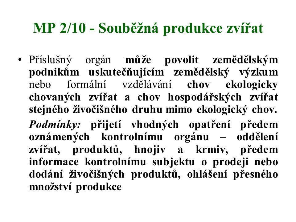 MP 2/10 - Souběžná produkce zvířat