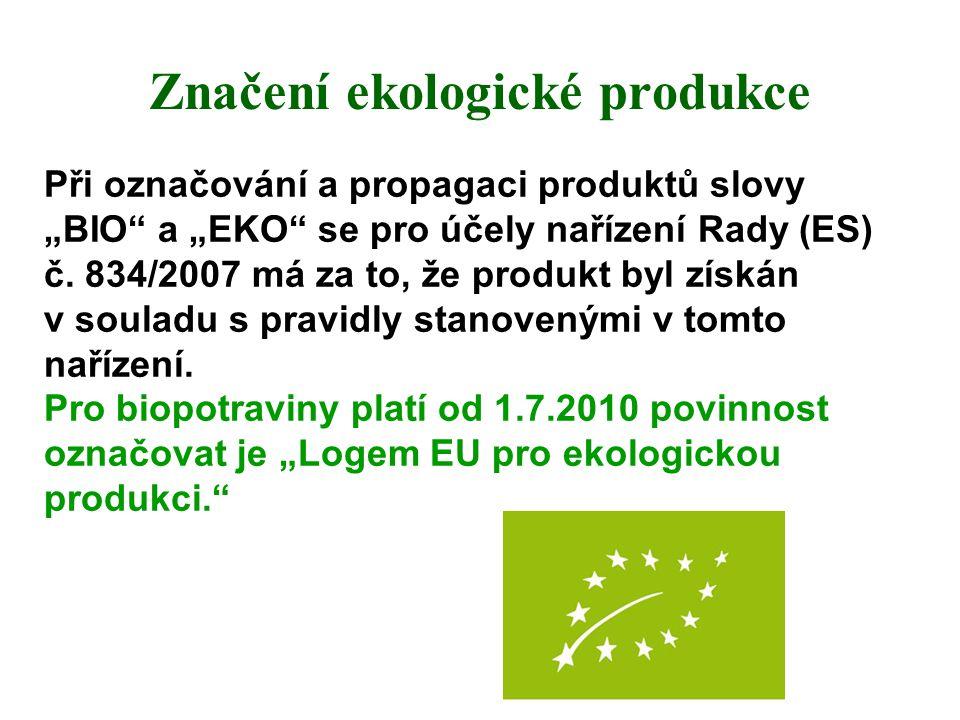Značení ekologické produkce