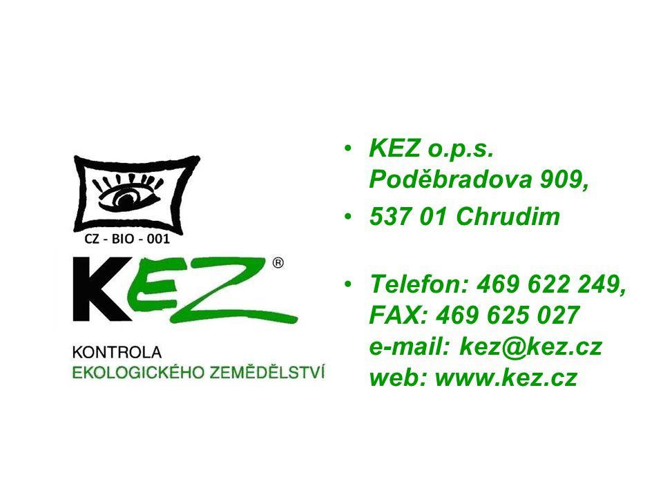 KEZ o.p.s. Poděbradova 909, 537 01 Chrudim.