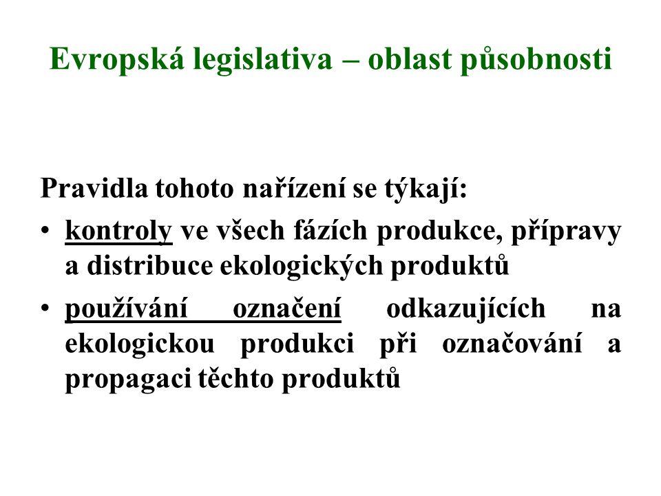 Evropská legislativa – oblast působnosti
