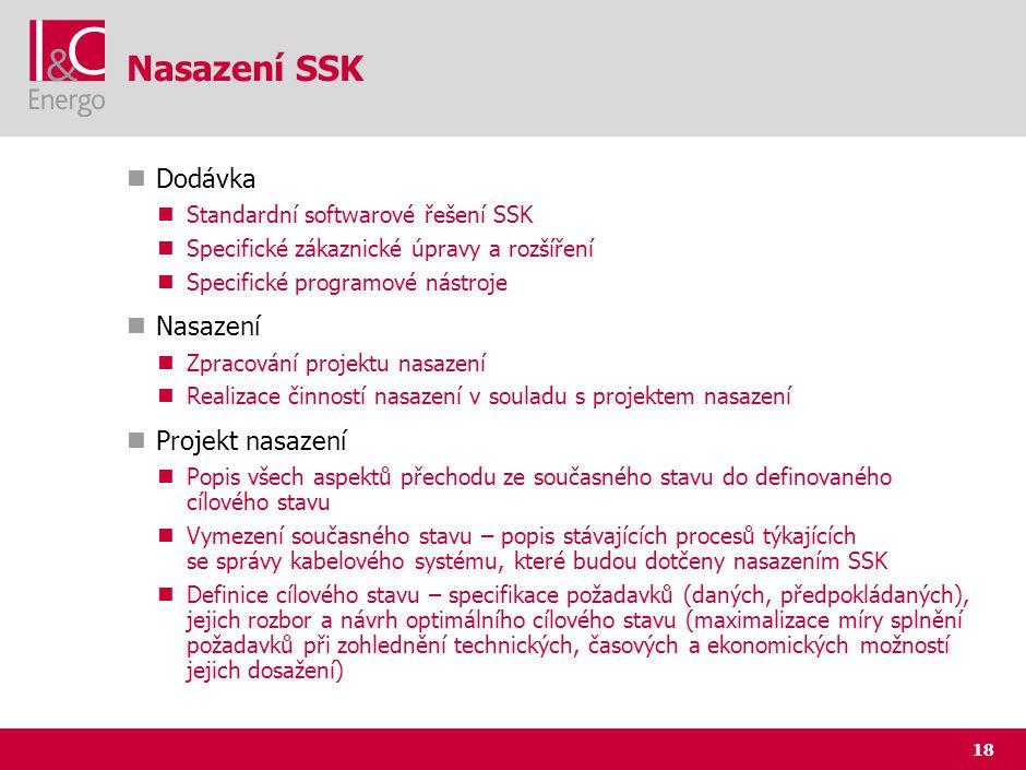 Nasazení SSK (2) Projekt nasazení (pokračování)