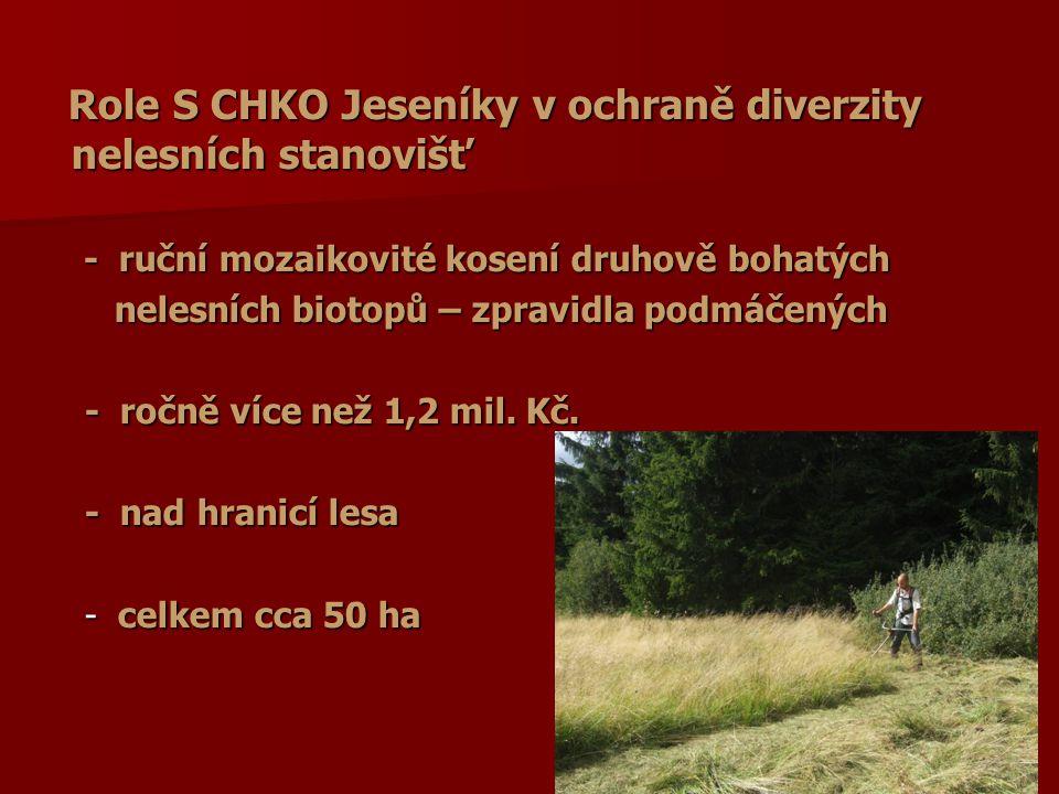 Role S CHKO Jeseníky v ochraně diverzity nelesních stanovišť