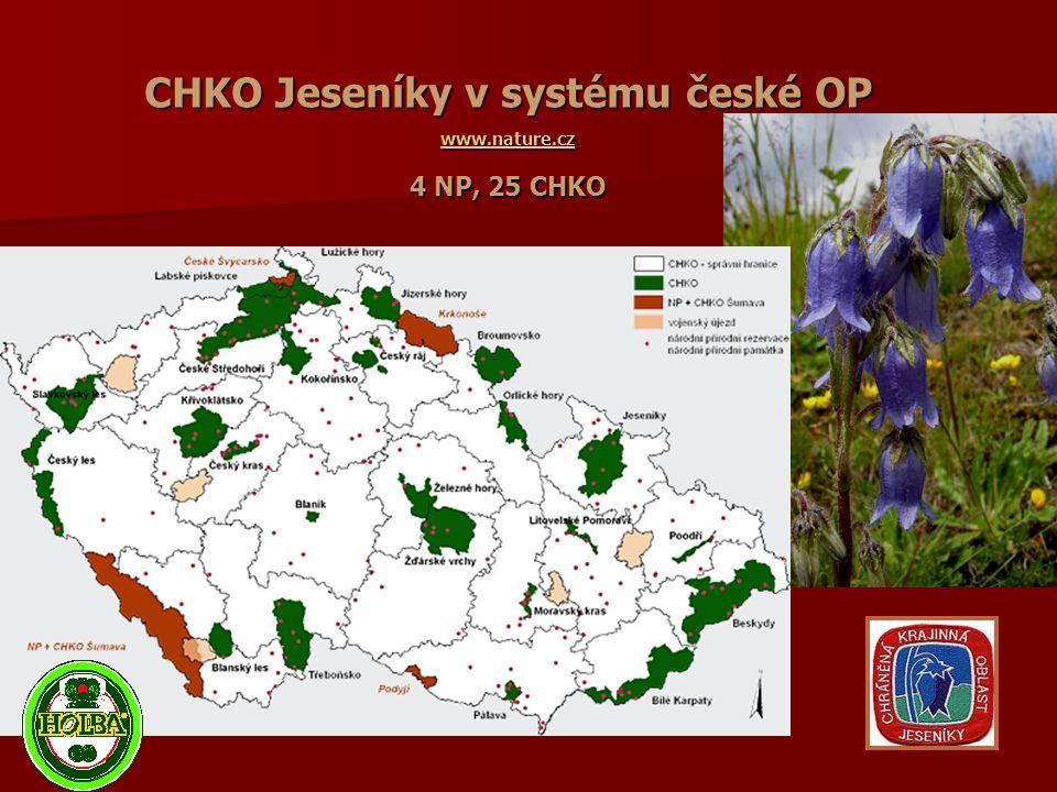 CHKO Jeseníky v systému české OP www.nature.cz 4 NP, 25 CHKO