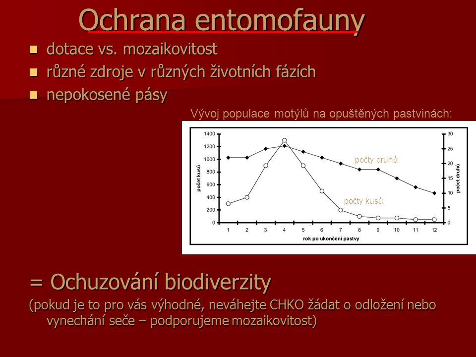 Ochrana entomofauny = Ochuzování biodiverzity dotace vs. mozaikovitost