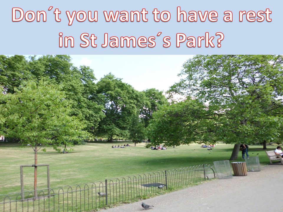 Don´t you want to have a rest in St James´s Park