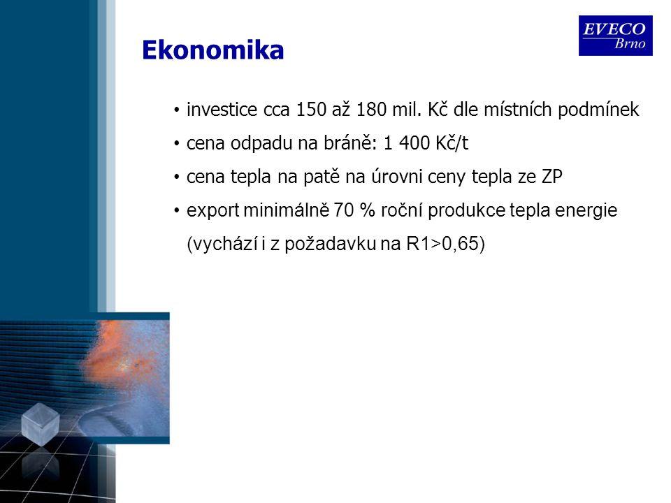 Ekonomika investice cca 150 až 180 mil. Kč dle místních podmínek
