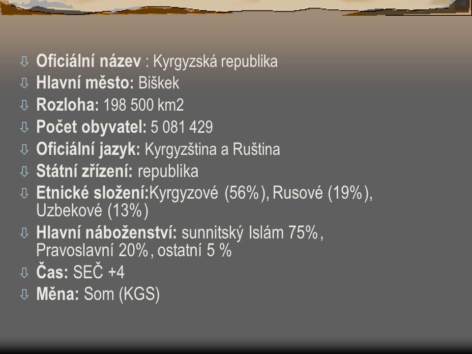 Oficiální název : Kyrgyzská republika