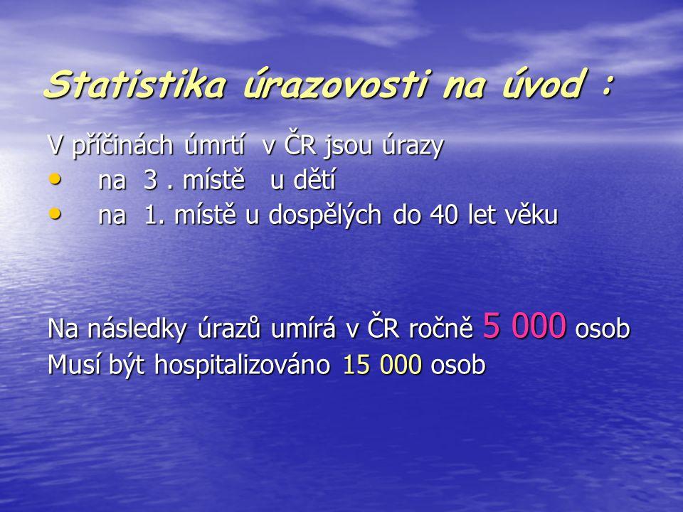 Statistika úrazovosti na úvod :