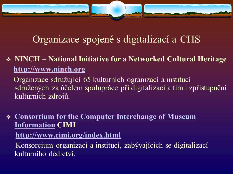 Organizace spojené s digitalizací a CHS