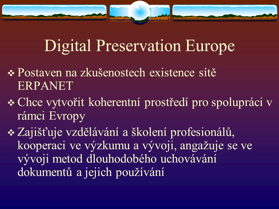 Digital Preservation Europe