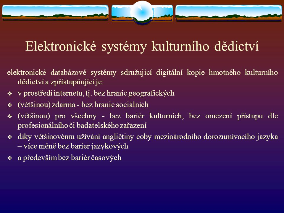 Elektronické systémy kulturního dědictví