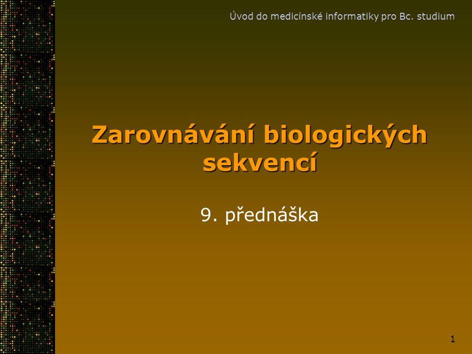 Zarovnávání biologických sekvencí