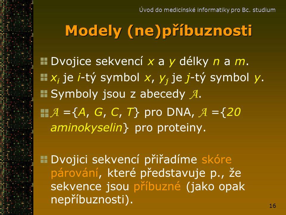 Modely (ne)příbuznosti