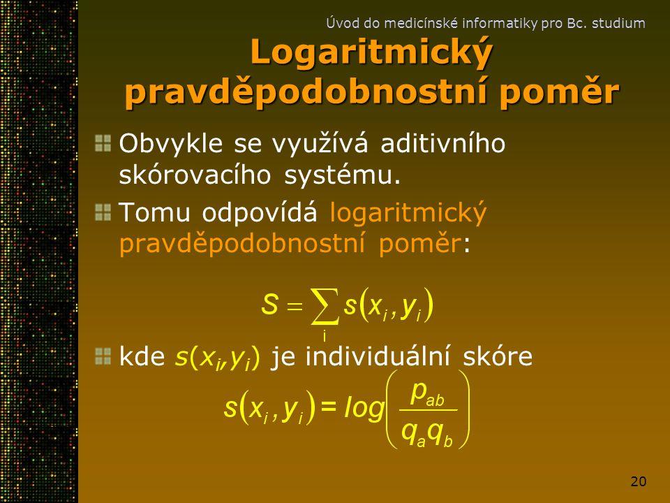 Logaritmický pravděpodobnostní poměr
