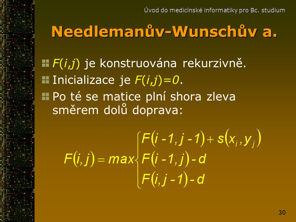 Needlemanův-Wunschův a.