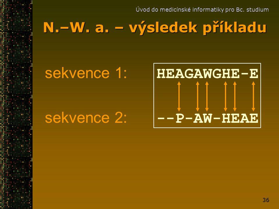 N.–W. a. – výsledek příkladu