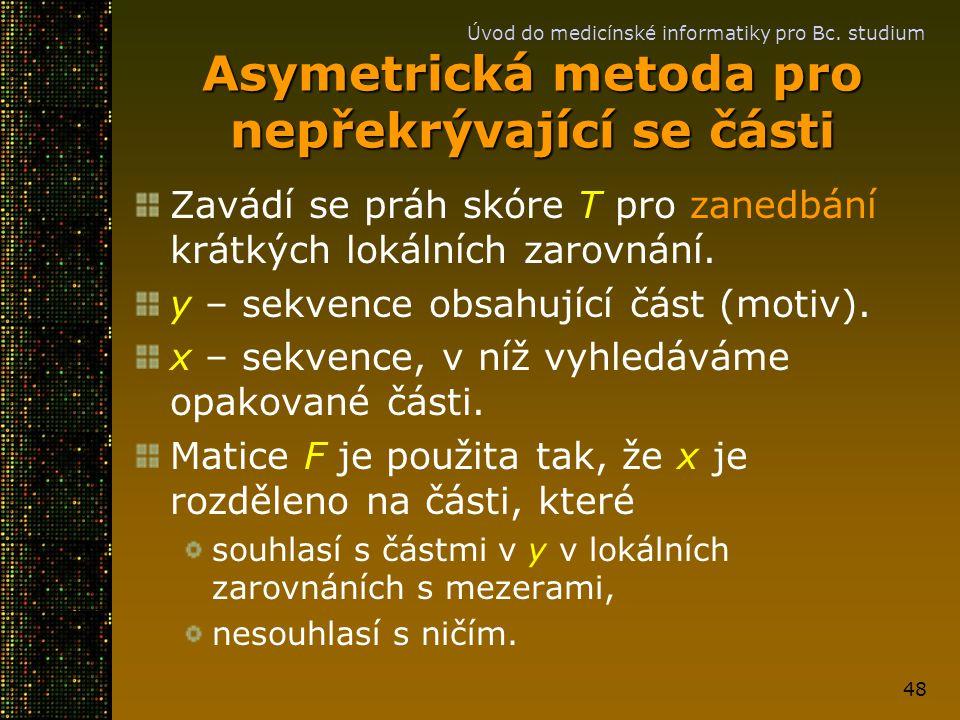 Asymetrická metoda pro nepřekrývající se části
