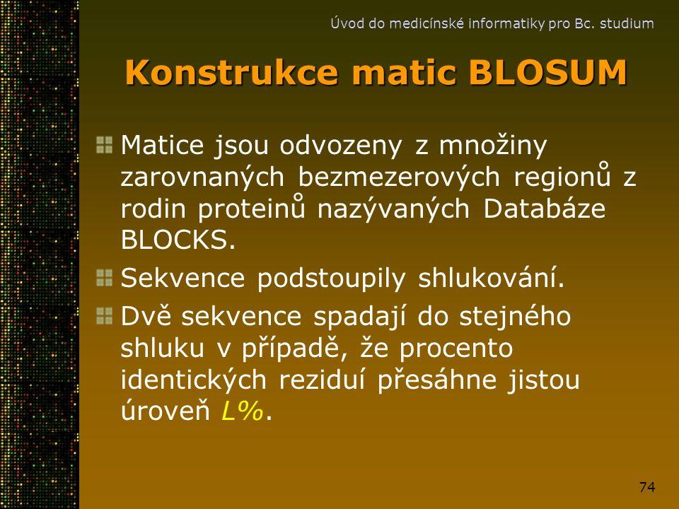 Konstrukce matic BLOSUM