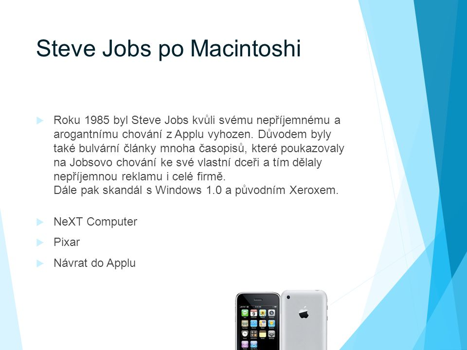 Steve Jobs po Macintoshi