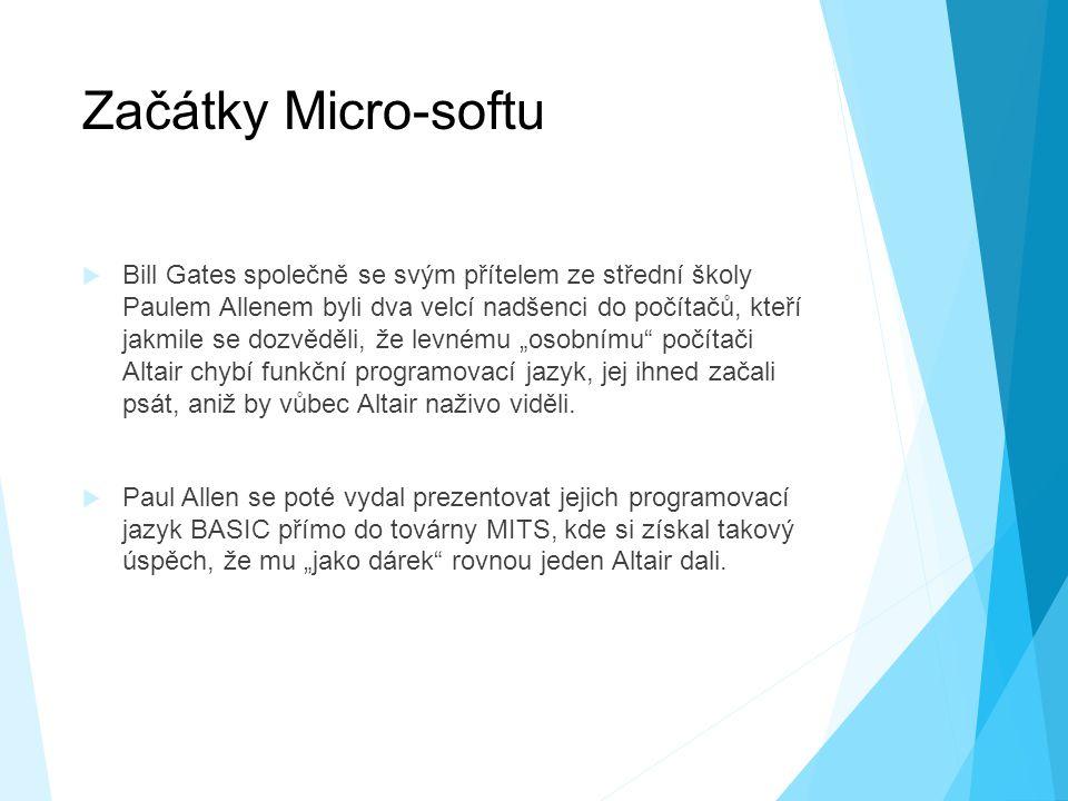 Začátky Micro-softu