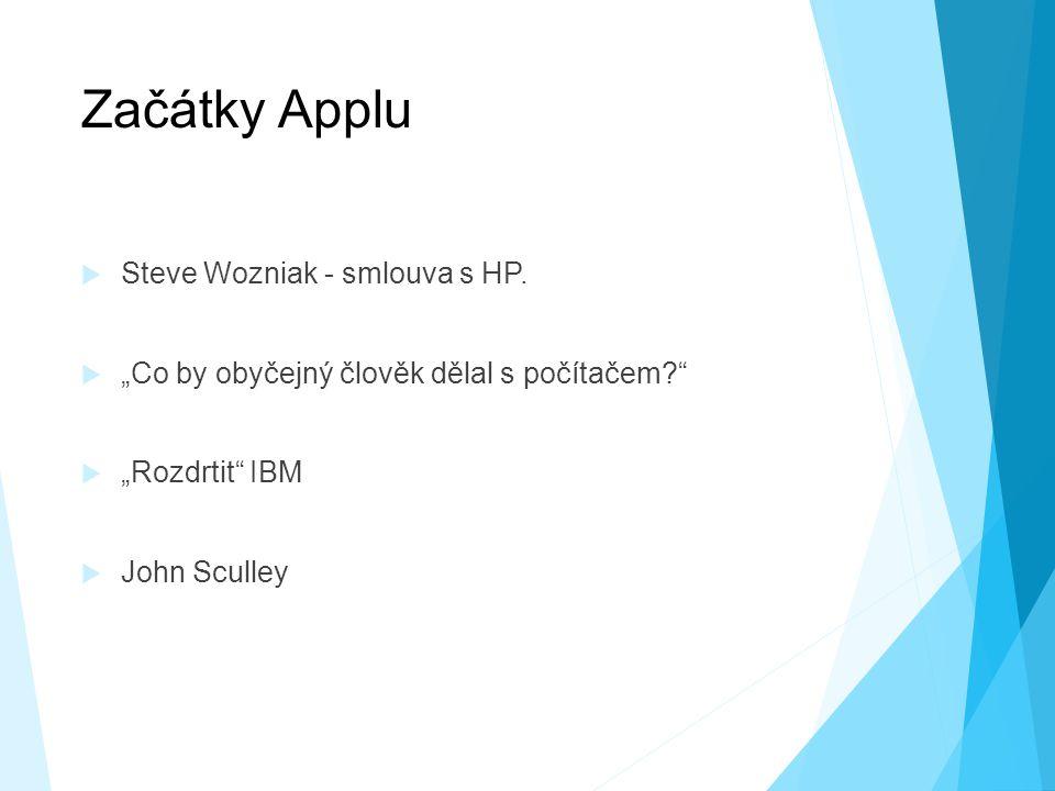 Začátky Applu Steve Wozniak - smlouva s HP.