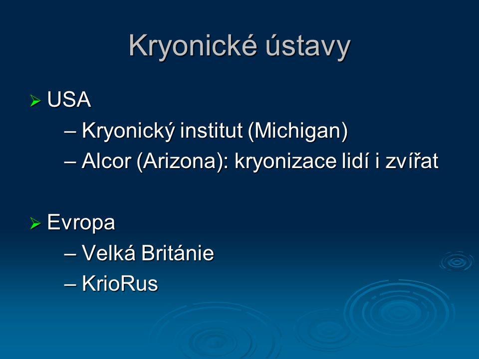 Kryonické ústavy USA – Kryonický institut (Michigan)