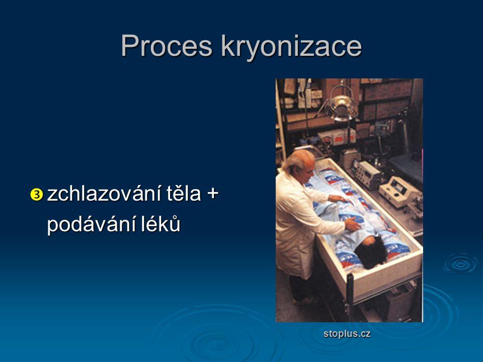 Proces kryonizace zchlazování těla + podávání léků stoplus.cz