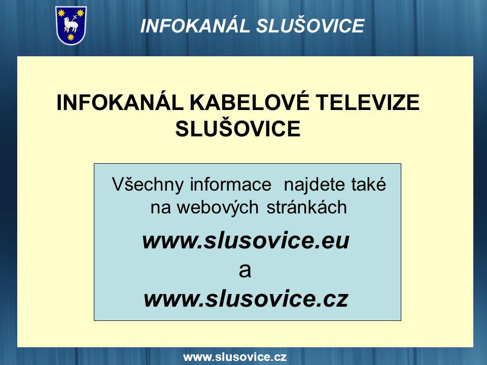 INFOKANÁL KABELOVÉ TELEVIZE