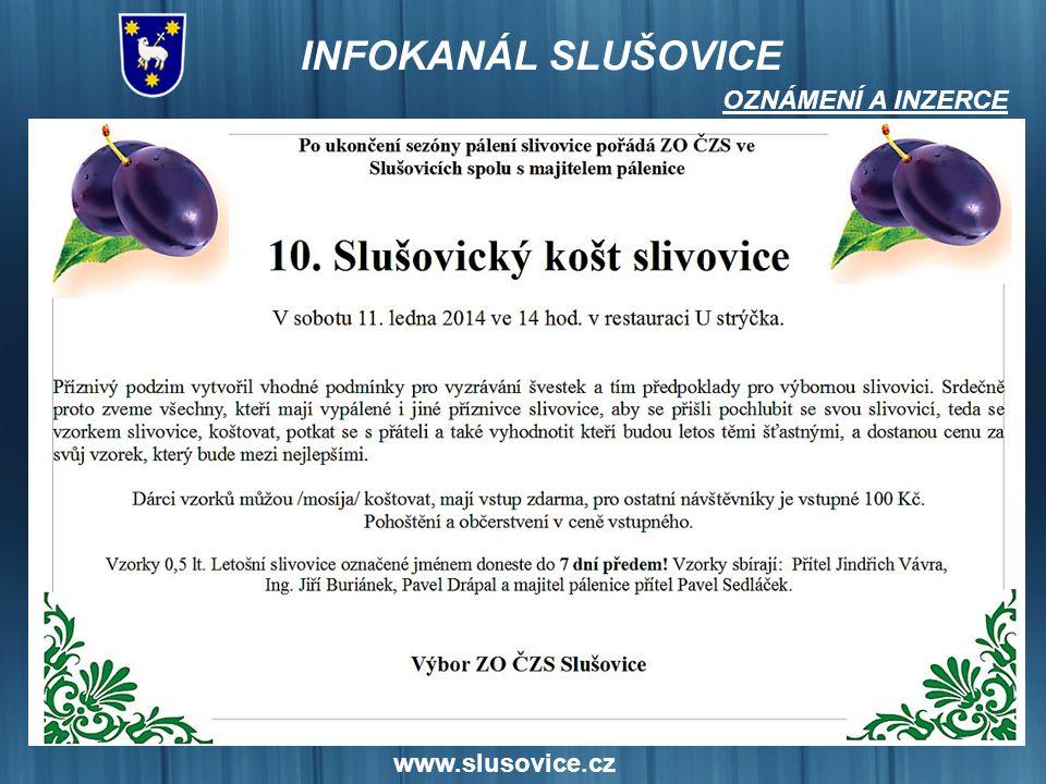 OZNÁMENÍ A INZERCE www.slusovice.cz 16