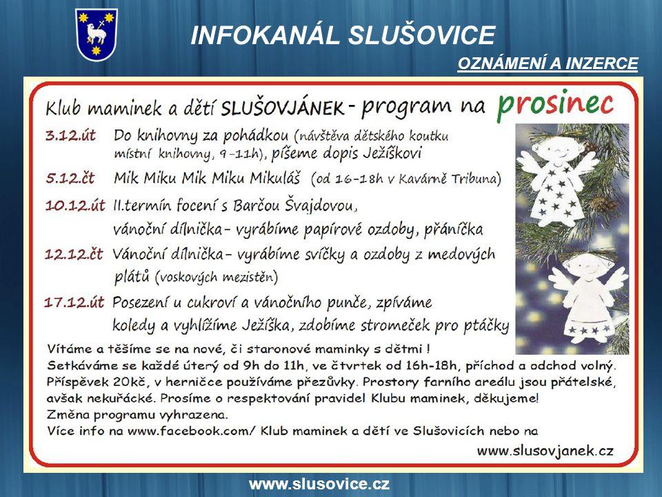 OZNÁMENÍ A INZERCE - www.slusovice.cz 20