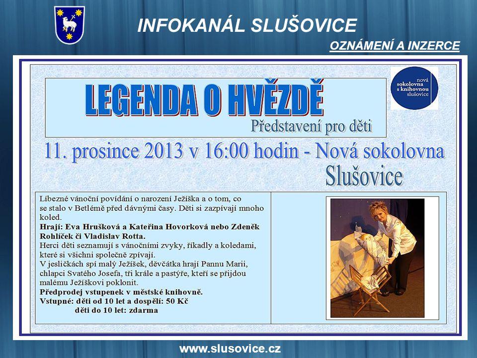 OZNÁMENÍ A INZERCE www.slusovice.cz