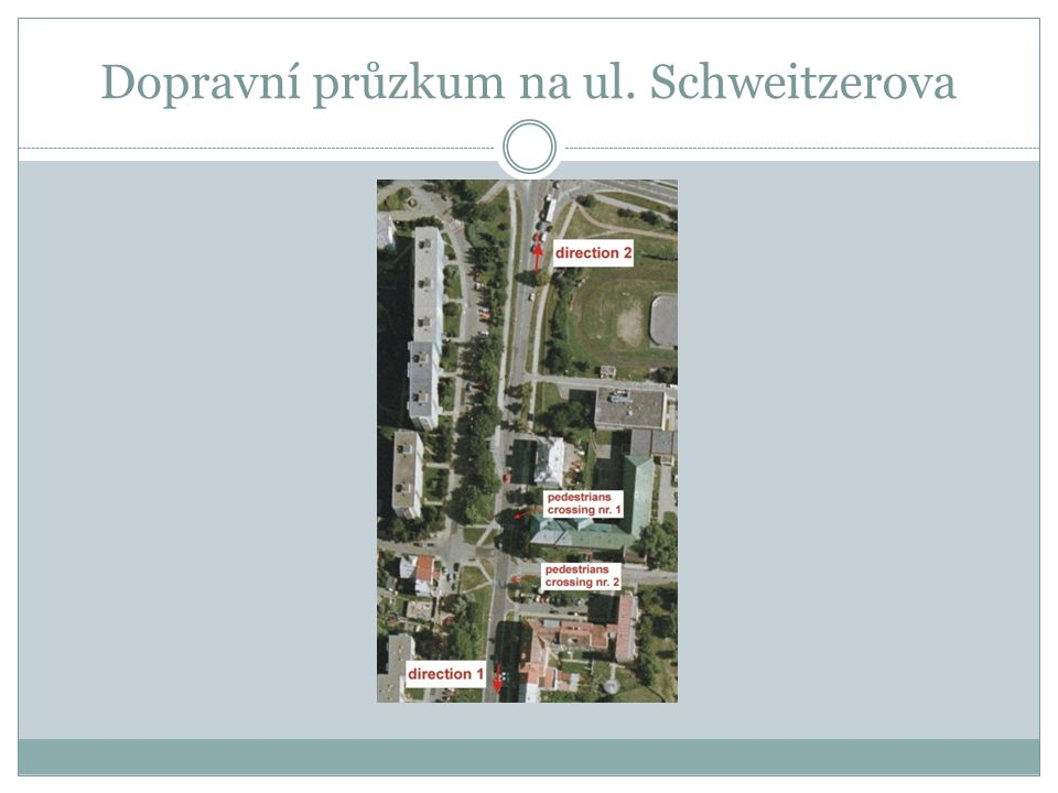 Dopravní průzkum na ul. Schweitzerova