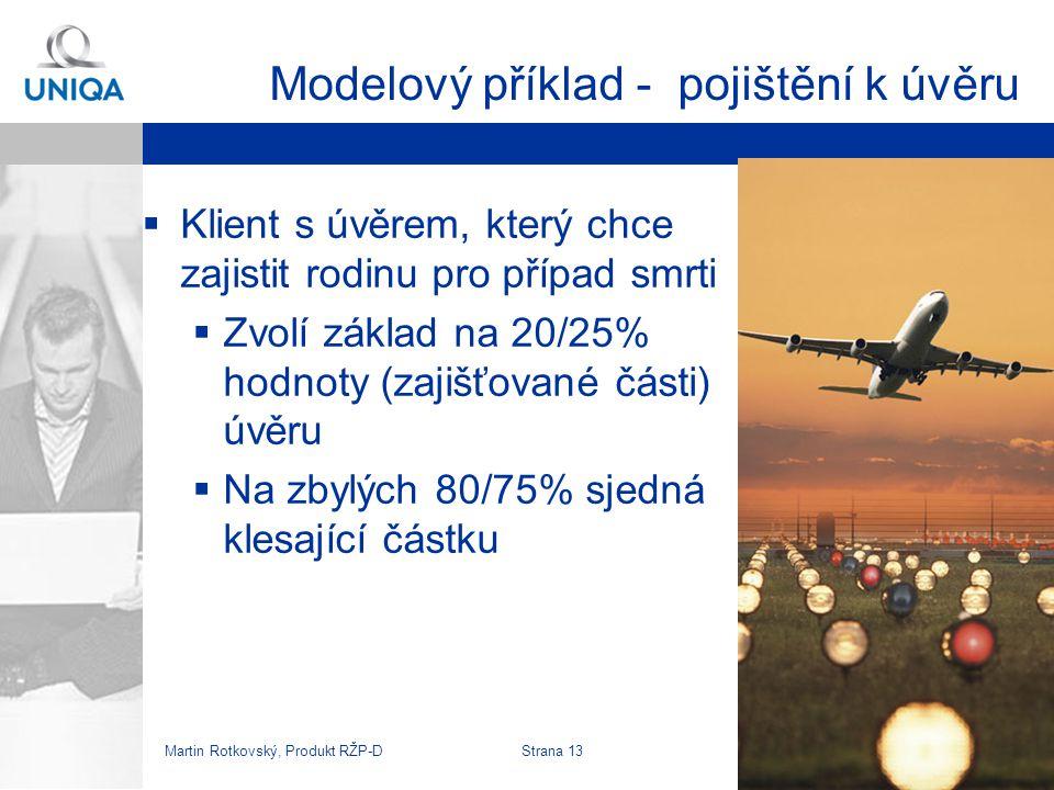 Modelový příklad - pojištění k úvěru