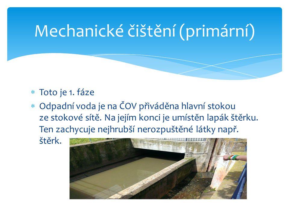 Mechanické čištění (primární)