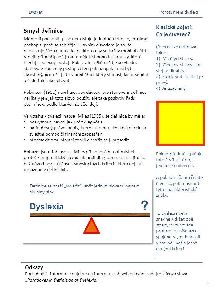 DysVet Porozumění dyslexii
