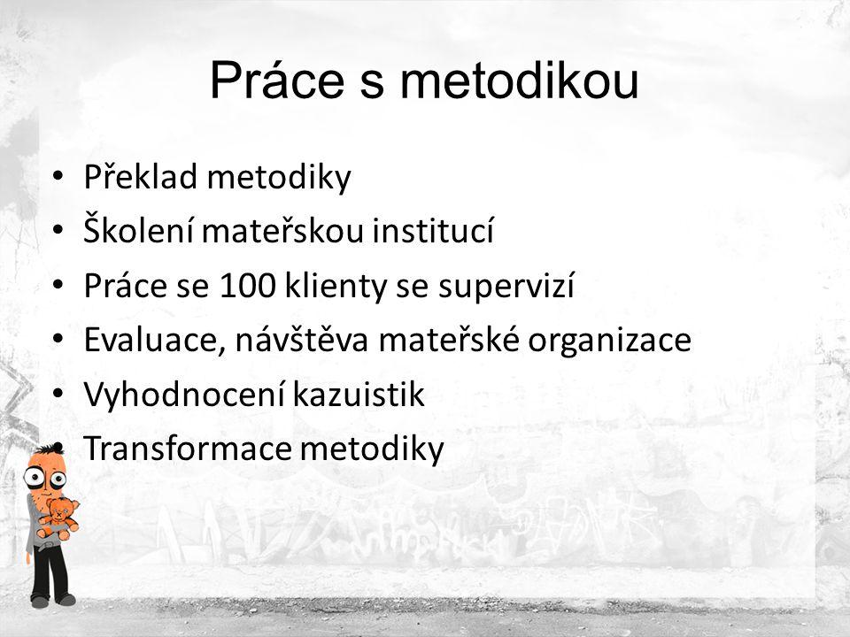 Práce s metodikou Překlad metodiky Školení mateřskou institucí
