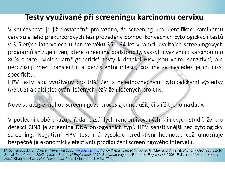 Testy využívané při screeningu karcinomu cervixu