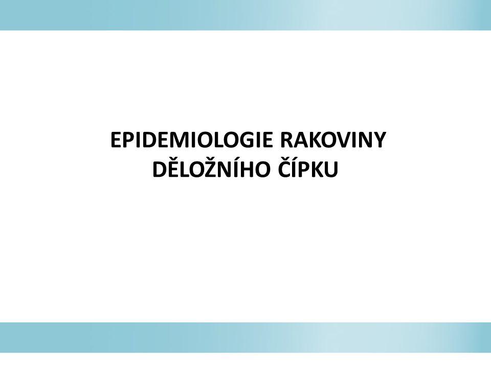 EPIDEMIOLOGIE RAKOVINY DĚLOŽNÍHO ČÍPKU