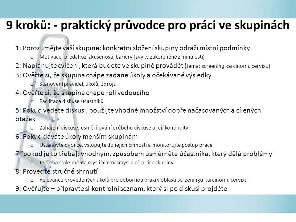 9 kroků: - praktický průvodce pro práci ve skupinách