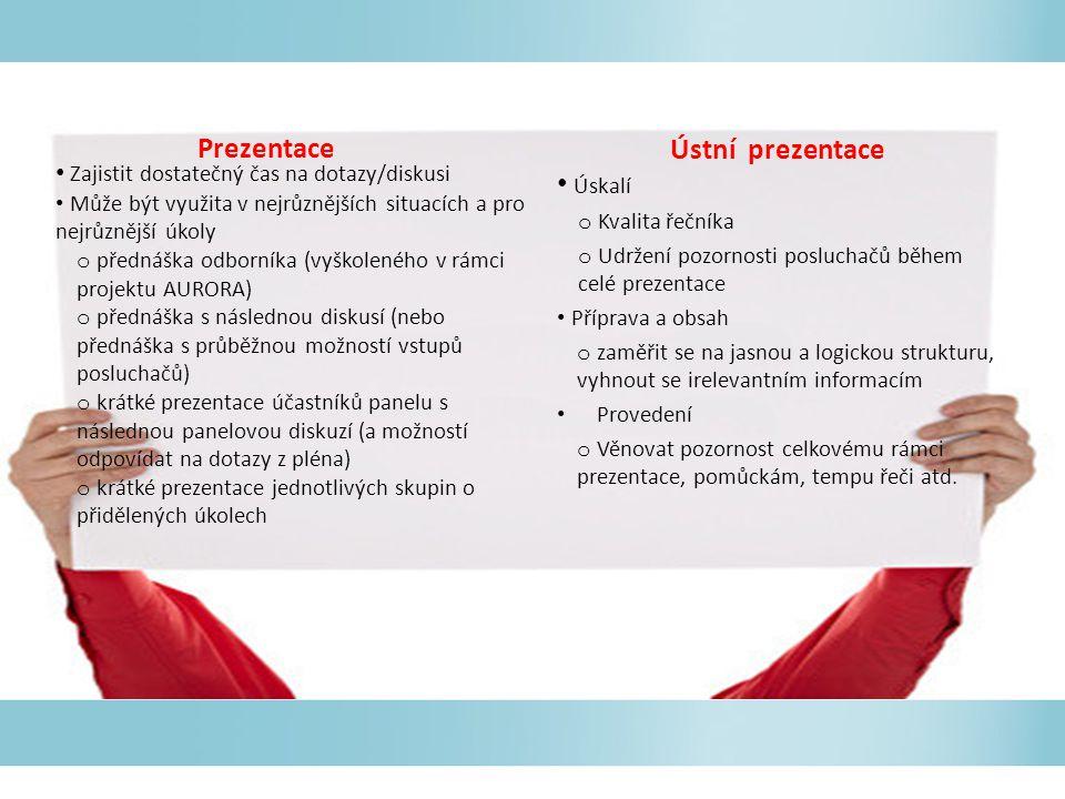 Prezentace Ústní prezentace