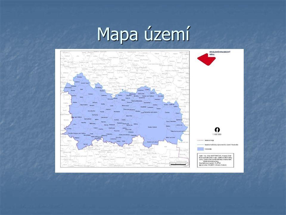 Mapa území