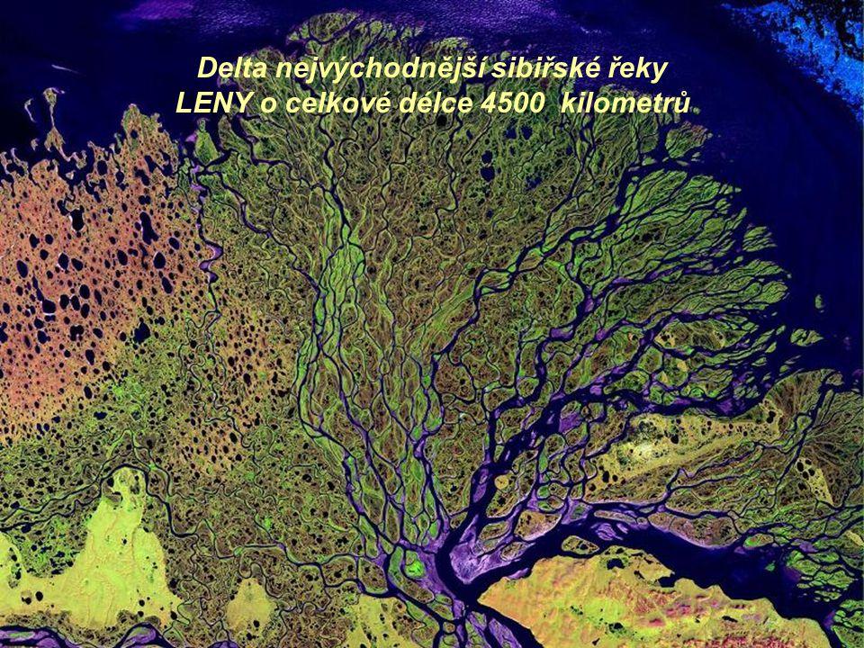 Delta nejvýchodnější sibiřské řeky LENY o celkové délce 4500 kilometrů
