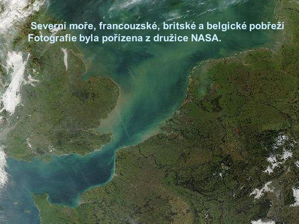Severní moře, francouzské, britské a belgické pobřeží Fotografie byla pořízena z družice NASA.