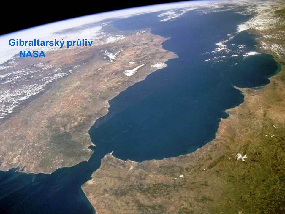 Gibraltarský průliv NASA