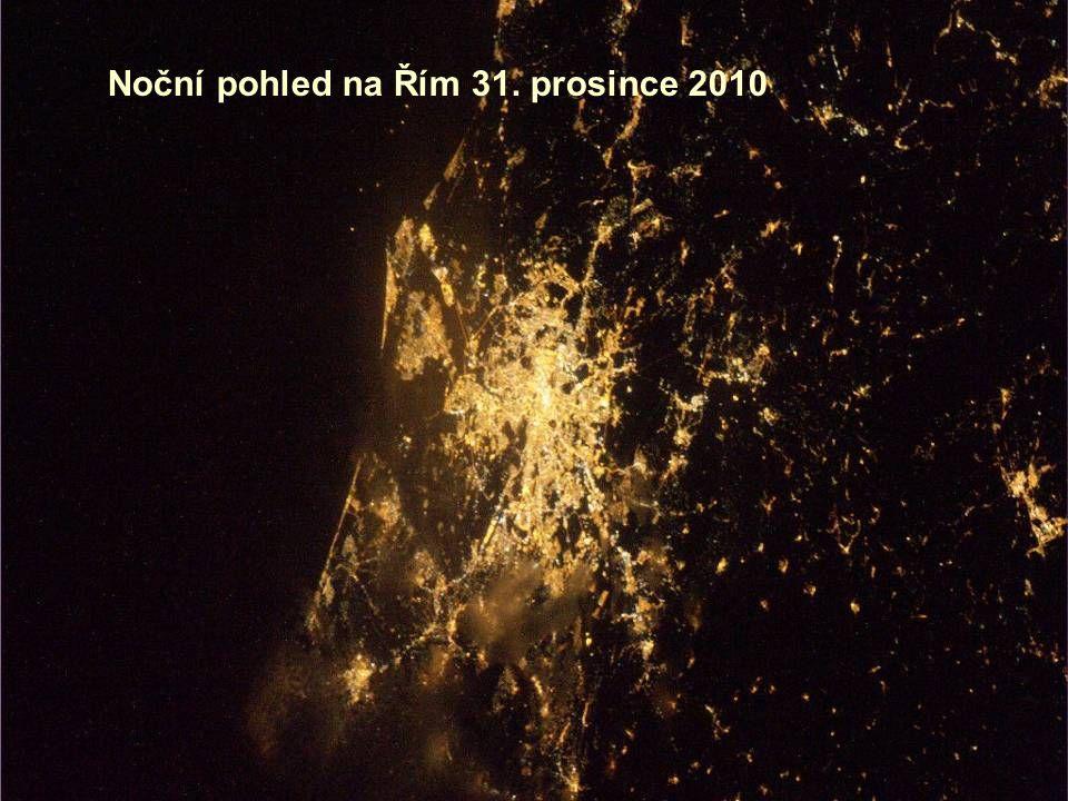 Noční pohled na Řím 31. prosince 2010