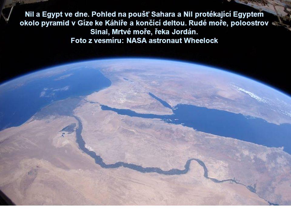 Foto z vesmíru: NASA astronaut Wheelock