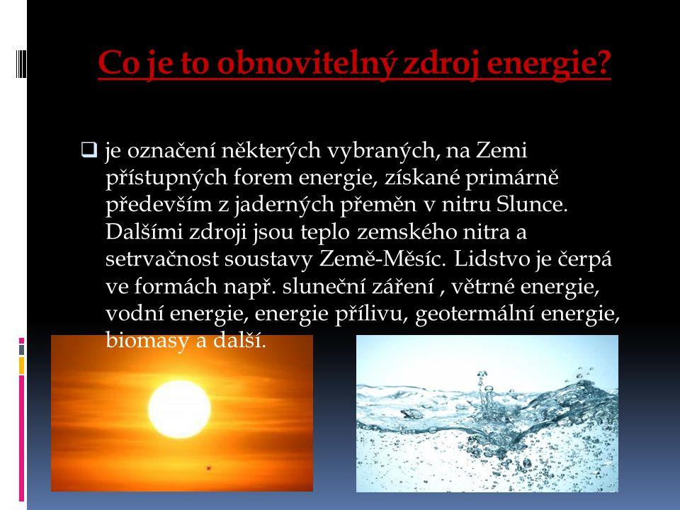 Co je to obnovitelný zdroj energie