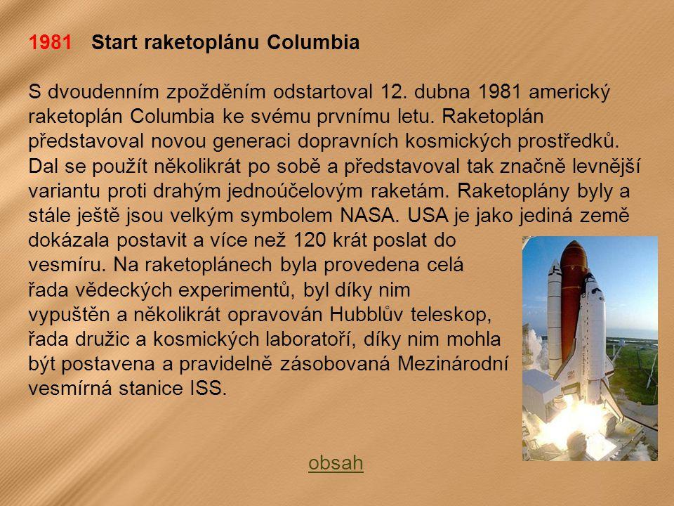 1981 Start raketoplánu Columbia